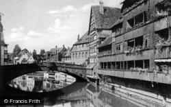 Fleisch Bridge c.1930, Nuremburg