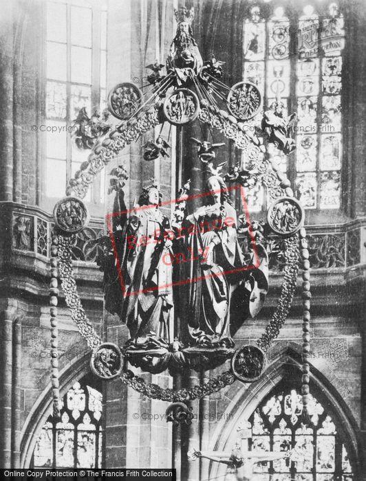 Photo of Nuremburg, The Church Of St Lawrence Interior c.1930