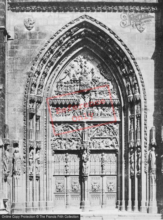 Photo of Nuremburg, The Church Of St Lawrence, Main Door c.1930