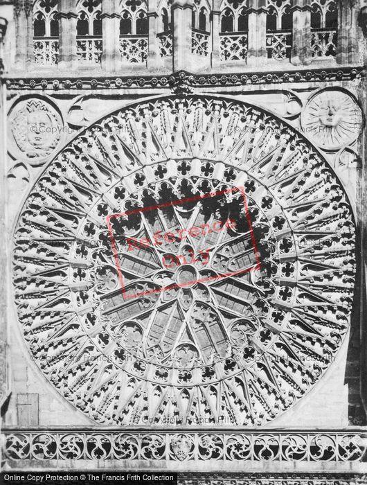 Photo of Nuremburg, The Church Of St Lawrence, Rose Window c.1930