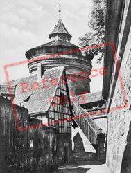 Tower In City Wall c.1930, Nuremburg