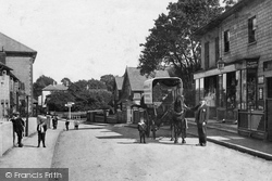 Nutfield, Horse Drawn Waggon In The Village 1908