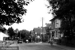 Nutfield, The Post Office And The Street c.1950
