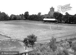 Oakengates, The Football Ground And St George's Church c.1960