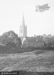 All Saints Church From Cutt's Close 1927, Oakham
