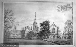Drawing Of Oakham School c.1960, Oakham