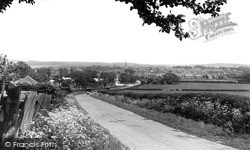 Oakham, From Cold Overton Hill c.1955