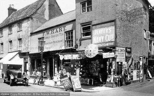 Oakham, Shop in the Market Place 1932