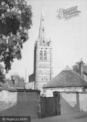 The Church From Northgate c.1950, Oakham