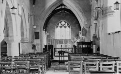 Oakley, The Church Interior c.1960