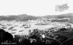 Oban, From South Showing Railway Station And Pier c.1875