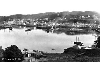 Oban, from the south west c1875