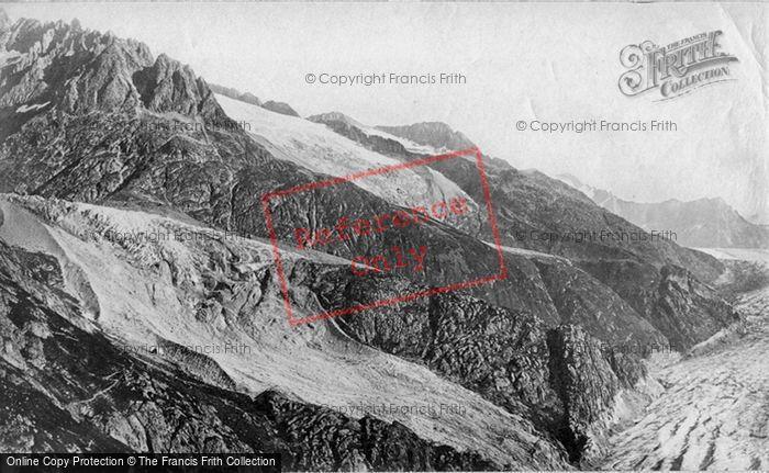 Photo of Oberaar Glacier, And Faulhorn c.1875