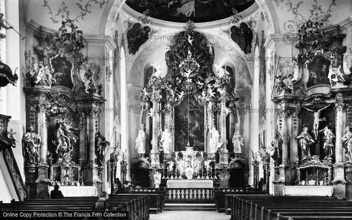 Photo of Oberammergau, Church Interior c.1935