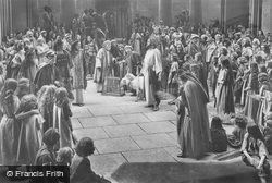 Driving The Money Changers And Traders Out Of The Temple, The Passion Play 1934, Oberammergau