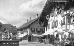 Hotel Alte Post, Main Square c.1935, Oberammergau