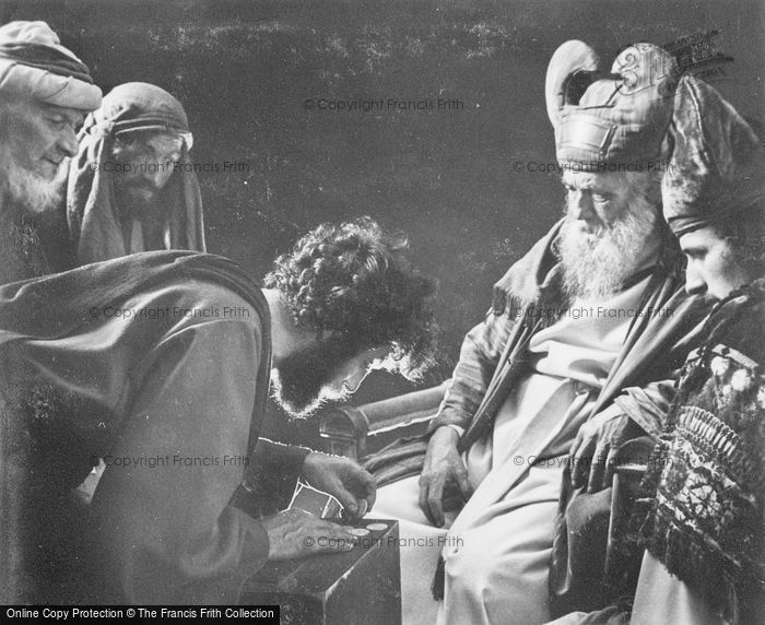 Photo of Oberammergau, Judas Sells His Master, The Passion Play 1934