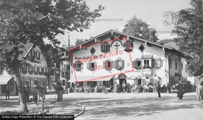 Photo of Oberammergau, Square And Hotel c.1935
