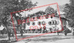 Square And Hotel c.1935, Oberammergau
