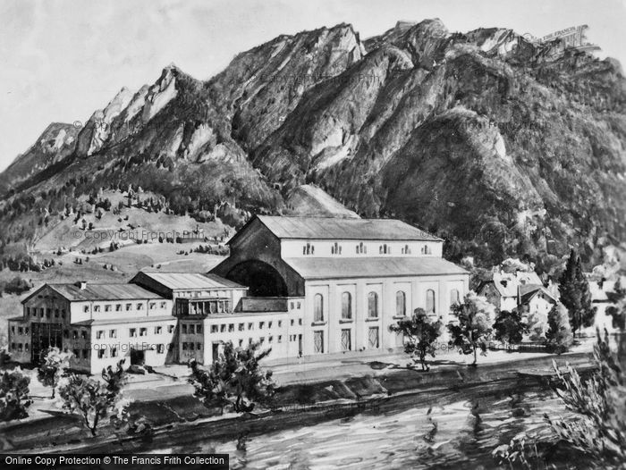 Photo of Oberammergau, The Passion Play Theatre c.1935