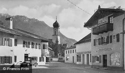 Village Square And Church c.1935, Oberammergau