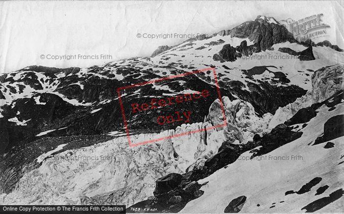 Photo of Oberwald, Rhone Glacier From Furka Road c.1875