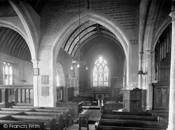 Odiham, All Saints Church Interior 1924