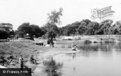 Offord Cluny, The Weir Pool c.1960