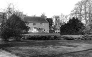 Ogbourne St George, the Church of St George and the Manor House c1955
