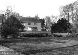 Ogbourne St George, The Church Of St George And The Manor House c.1955