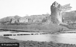 Ogmore By Sea, Stepping Stones And Castle c.1950