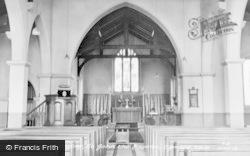 Ogmore Vale, St John The Baptist Church Interior c.1955