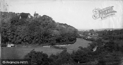 Okehampton, Castle And Town From Park c.1871