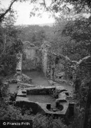 Castle, From Keep c.1955, Okehampton