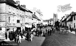 Okehampton, Fore Street Market 1890
