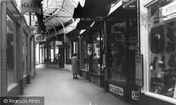 Okehampton, The Arcade c.1960