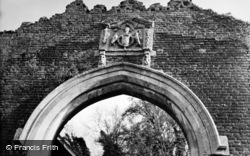 Old Basing, Coat Of Arms Above The Gateway, Basing House c.1950