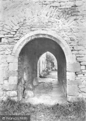 Cleeve Abbey, Norman Doorway 1913, Old Cleeve
