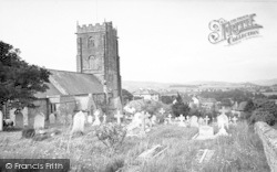 The Church And Village c.1955, Old Cleeve