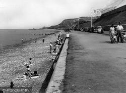 Old Colwyn, Beach c.1955