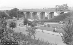 Cliff Road And Viaduct c.1935, Old Colwyn
