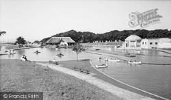 Old Colwyn, Eirias Park, Boating Lake c.1955