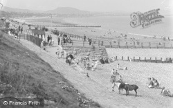 The Beach And Promenade c.1933, Old Colwyn