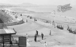 Old Colwyn, The Promenade c.1933