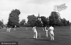 Cricket On The Green c.1955, Old Coulsdon