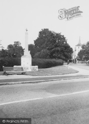 The Memorial And Church c.1960, Old Coulsdon