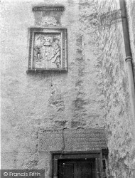 Old Dailly, Killochan Castle, Inscription And Coat Of Arms 1951