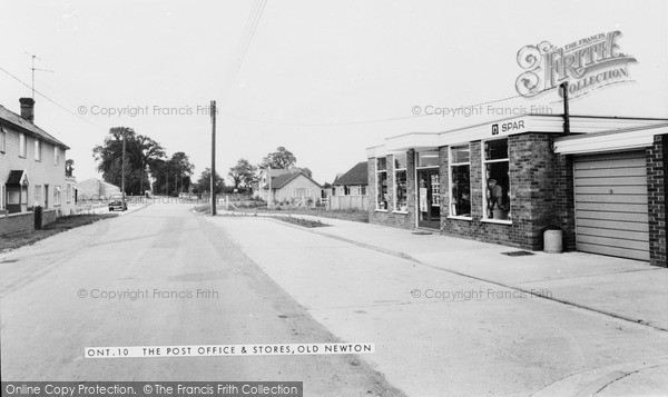 Old Newton, the Post Office and Stores c1965