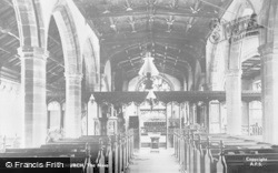 Old Radnor, St Stephen's Church, The Nave c.1955