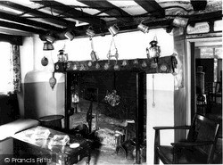 Old Sarum, 14th Century Fireplace, The Old Castle Inn c.1965